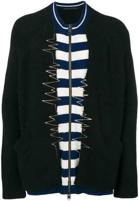 Haider Ackermann layered zipped sweater