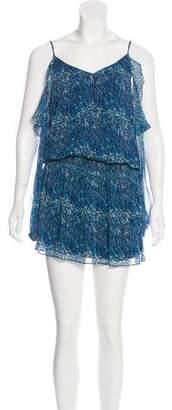 Ramy Brook Silk Long Sleeve Mini Dress