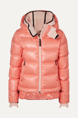 TEMPLA - 10k Nano Hooded Quilted Down Jacket - Baby pink