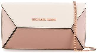 Michael Kors Prism colour-block clutch