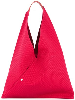 Cabas triangle shaped tote