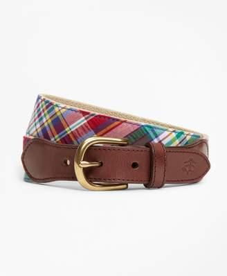 Brooks Brothers Boys Cotton Madras Belt