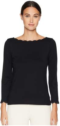 Kate Spade Broome Street Scallop Knit Top Women's Clothing