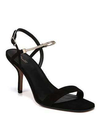 Diane von Furstenberg Frankie Suede Sandal with Chain Strap