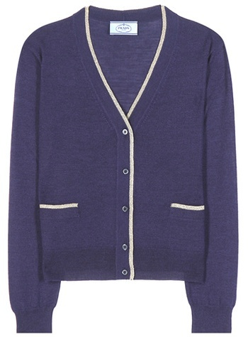 prada Prada Virgin Wool And Silk-blend Cardigan