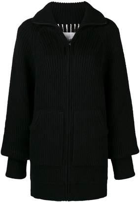 Maison Margiela oversized rib knit cardigan