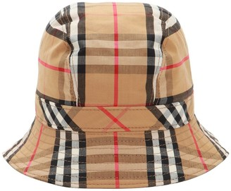 Burberry Vintage Check Print Cotton Bucket Hat be75b189a90