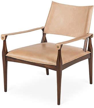 BEIGE Durham Armchair Leather - Maison 55