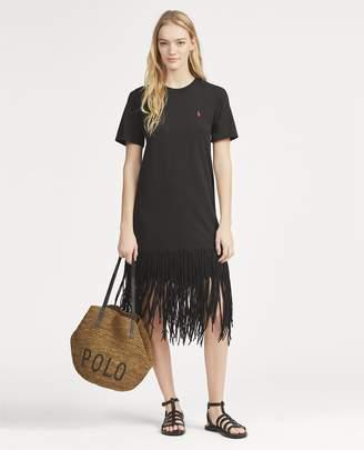 Ralph Lauren Fringe Cotton Shirtdress