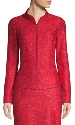 St. John Shimmer Sequin Knit Jacket