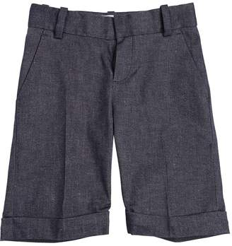 Little Marc Jacobs Cotton & Linen Blend Twill Shorts