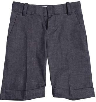 Little Marc Jacobs Cotton & Linen Blend Twill Shorts