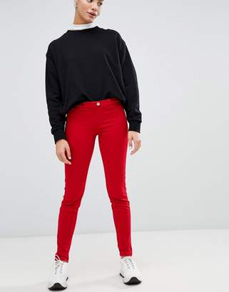 Love Moschino mid rise red skinny jeans