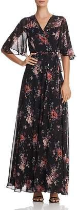 Aqua Floral Print Maxi Wrap Dress - 100% Exclusive