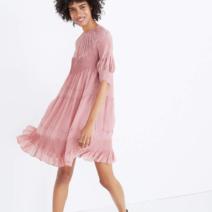 Ulla JohnsonTM Embroidered Silk Evangeline Mini Dress