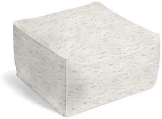Loom Decor Square Pouf Sunbrella® Frequency - Parchment