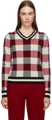 Rag & Bone Red Gabby V-Neck Sweater
