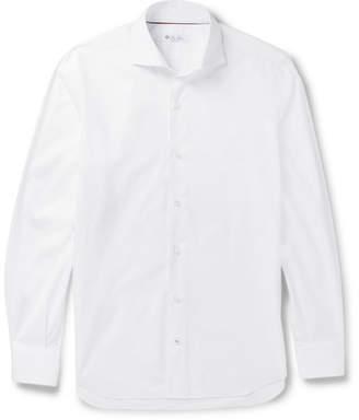 Loro Piana Albert Slim-Fit Cutaway-Collar Cotton Shirt - White