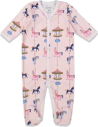 Roller Rabbit Carousel Fitted One-Piece Footie Pajamas