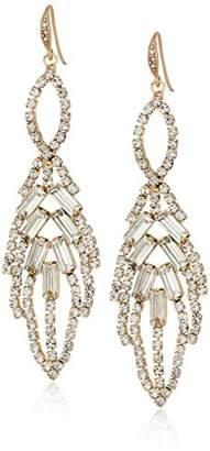 ABS by Allen Schwartz Stone Leaf Chandelier Stud Earrings