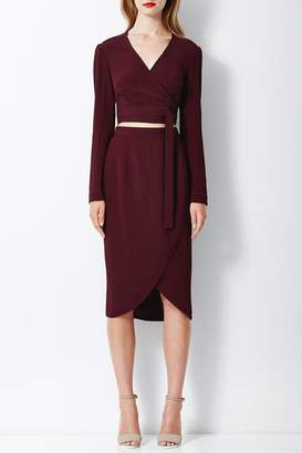 Bec & Bridge Bordeaux Wrap Top
