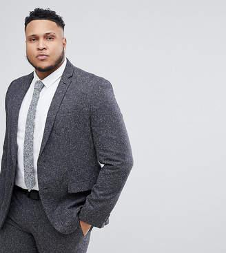 Farah Smart PLUS Skinny Suit Jacket In Fleck