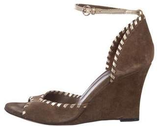 613eeb05a33b Pre-Owned at TheRealReal · Gucci Suede Ankle Strap Wedges