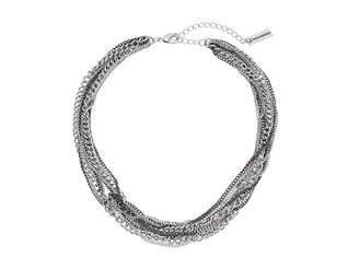 Steve Madden Knot Design Multi Strand Chain Necklace