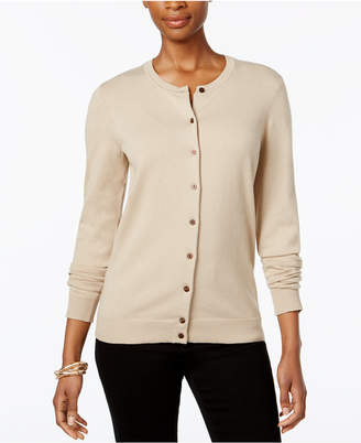 Karen Scott Crew-Neck Cardigan, Created for Macy's
