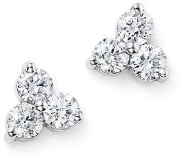 Bloomingdale's Diamond Three Stone Stud Earrings in 14K White Gold, .60 ct. t.w. - 100% Exclusive