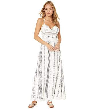 Miss Me Embroidery Lace Trim Maxi Dress