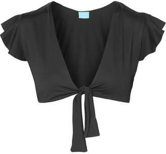 Melissa Odabash Koh Samui Tie-front Bikini Top - Black