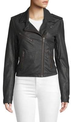 Doma Solid Leather Jacket