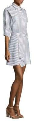 Jason Wu Striped Button-Front Shirtdress