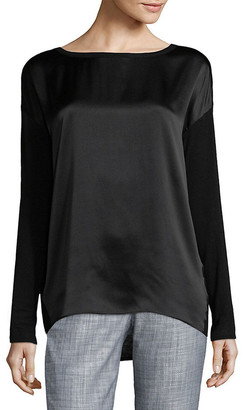 Vince Dropped-Shoulder Silk Top