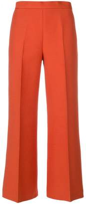 Fendi pleated cropped trousers