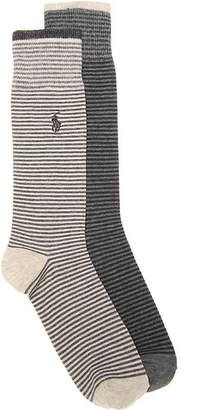 Polo Ralph Lauren Striped Crew Socks - 2 Pack - Men's