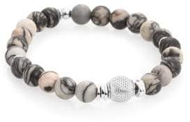 Tateossian Stonehenge Sterling Silver and Semi-Precious Stone Beaded Bracelet