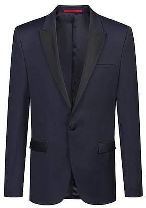 HUGO BOSS Extra-slim-fit virgin-wool jacket with contrast trims