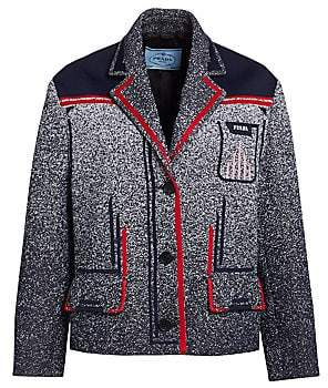 Prada Women's Jacquard Mouline Tech Jacket