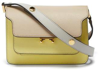Marni Trunk Mini Leather Shoulder Bag - Womens - Yellow Multi