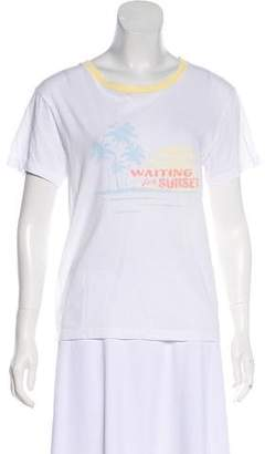 Saint Laurent Graphic Short Sleeve T-Shirt