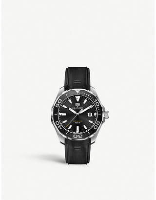 Tag Heuer WAY101A.FT6141 Aquaracer stainless steel and rubber strap watch