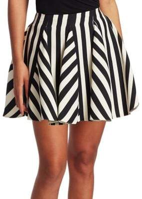 Valentino Stripe Flared Mini Skirt