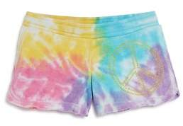 Play Six Girls' Embellished Tie-Dyed Shorts - Little Kid