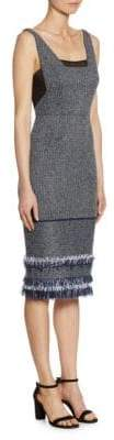 Roland Mouret Riseley Textured Midi Dress