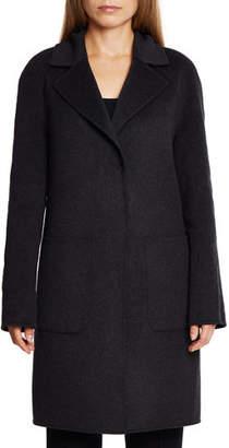 Dawn Levy Cece Reversible Wool Coat w/ Removable Fur