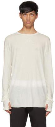 Isabel Benenato White Long Sleeve T-Shirt