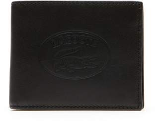 Lacoste Men's L.12.12 Casual Embossed Lettering Leather 6 Card Wallet