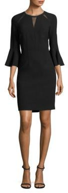 Elie Tahari Garcia Bell Sleeve Embellished Sheath Dress $448 thestylecure.com